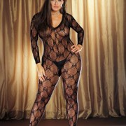 Bordeaus Bodystocking Plus