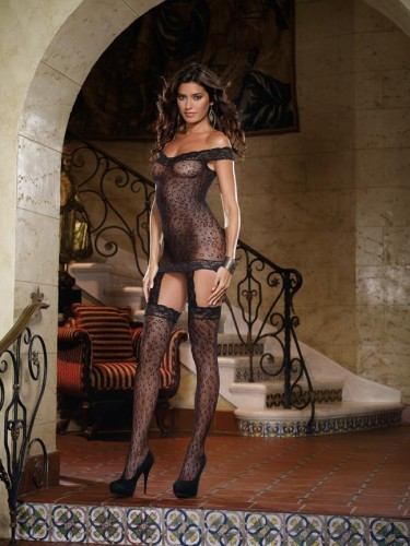 Leopard Fishnet Black